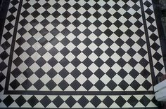 black and white victorian floor tiles - Google Search