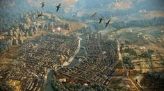 Video Game - The Elder Scrolls - Morrowind - Elder Scrolls - Aerial - Birds - Bird - Skyrim - Fantasy Wallpaper Elder Scrolls Morrowind, Elder Scrolls Lore, Elder Scrolls Skyrim, Elder Scrolls Online, Fantasy City, Fantasy Places, Fantasy World, Computer Wallpaper, Wallpaper Backgrounds