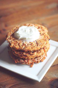 Sweet Potato Apple Fritters. 234 Calories for 3. 6 PointsPlus.