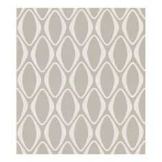 """Geometric-print wallpaper in cream and gray.    Product: Wallpaper    Construction Material: Unpasted grasscloth    Color: Cream and gray      Features:   Modern and contemporary    Straight match    25.18"""" Design repeat    Fresh contemporary harlequin diamond geometric is soft and shiny    Strippable and washable        Dimensions: 396"""" H x 20.5"""" W x 0.25"""" D"""