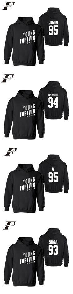 Young Forever BTS kpop printed hoodie streetwear style Hoodies Sweatshirt Bangtan Boys winter men felpe roupas tracksuit 4XL