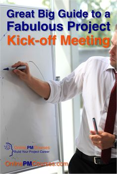 Great Big Guide to a Fabulous Project Kick-off Meeting. A great way to set the tone and get work done at the start of your Project is to host a Kick-off Meeting. It is easy to do… and hard to do well. https://onlinepmcourses.com/project-kick-off-meeting/ With free downloadable checklist