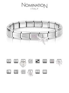 Nomination – composable bracelet: my perfect charms Nomination Charms, Nomination Bracelet, Charm Jewelry, Jewelry Gifts, Jewellery, Hand Accessories, Cute Charms, Girls Jewelry, Fashion Bracelets