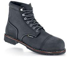 Empire - Black - Professional Grade Work Boots, Non Slip - Shoes For Crews