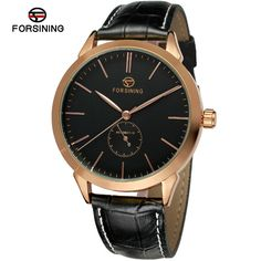 22.99$  Watch here - http://ali4vh.shopchina.info/go.php?t=32688088579 - Watches Men Luxury Brand Forsining Automatic Self Wind Mechanical Wristwatches Genuine Leather Strap Relogio Masculino  #aliexpress