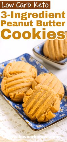 Sugar-Free Peanut Butter Keto Cookies Homemade keto peanut butter cookies recipe (low carb, sugar-free, gluten-free) These healthy cookies are chewy, crispy, delicious. Only 3 ingredients needed to make this recipe. Sugar Free Peanut Butter, Keto Peanut Butter Cookies, Low Carb Peanut Butter, Homemade Peanut Butter, Peanut Butter Cookie Recipe, Butter Recipe, Keto Cookies, Cookies Healthy, Low Carb Dinner Recipes