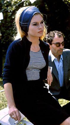 Brigitte Bardot in Jean-Luc Godard's Le Mépris  (Contempt), 1963.