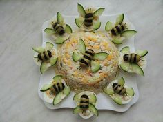 Food decoration - - food art - - Kochen - Home Snacks Für Party, Appetizers For Party, Appetizer Recipes, Bug Snacks, Easter Appetizers, Cute Food, Good Food, Yummy Food, Food Garnishes
