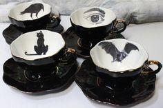 Black teacups // ♡pinterest :ashshila