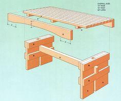 Cedar Garden Bench Plans