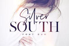 Silver South Font Duo   Script + Skinny Serif