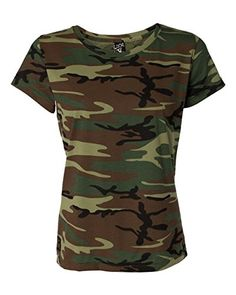 Bodek And Rhodes 55366494 3665 Code Five Ladies Fine Jersey Camouflage TShirt Green Woodland  Medium -- Read more  at the image link.Note:It is affiliate link to Amazon.