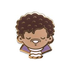 """""""I'm not a human, I am a dove, I'm your conscious, I am love, All I really need is to know that you believe."""" - Prince, 1958-2016 - 1"""" x 1.2"""" - Hard enamel - Gold plating - Rubber clutch backing"""