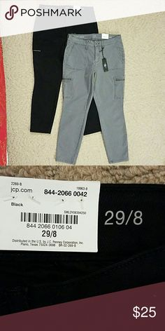 Two Pair Ana Skinny Ankle Pants (1 black 1 gray) This sale includes two pair of brand new Ana skinny ankle pants from JCP for one price. One black, one gray. Brushed denim fabric. NEW WITH TAGS. jcpenney Pants Ankle & Cropped