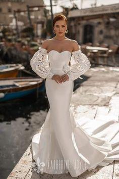 Katherine Joyce 2020 Spring Bridal Collection – The FashionBrides Top Wedding Dresses, Mermaid Wedding, Naples, Muse, Collection, Tops, Fashion, Moda, Fasion