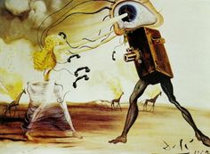 """"""" it was at that point that I realized that maybe Thierry wasn't actually a film maker, and he was maybe just someone with mental problems who happened to have a camera."""" -Banksy, from the Film, """"Exit Through the Gift Shop.""""  Modern Rhapsody - Salvador Dali"""