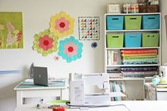 use paint color strips (or whatever they're called) to decorate the walls
