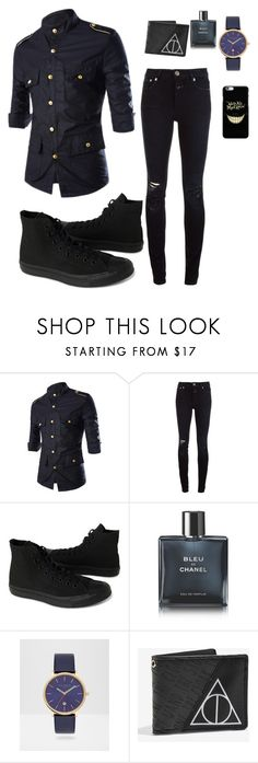 """""""No More Pastels"""" by mystical-force on Polyvore featuring Closed, Converse, Chanel, Ted Baker, Warner Bros., men's fashion and menswear"""
