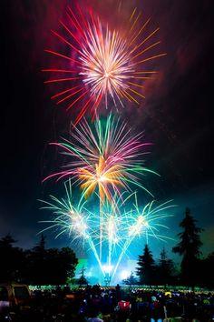 Epic Fireworks pink, blue, red, orange