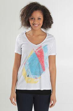 Volcom Colorstone V Neck t-paita White 19,90 € www.dropinmarket.com