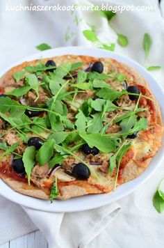 Kuchnia szeroko otwarta Vegetable Pizza, Vegetables, Food, Veggies, Essen, Vegetable Recipes, Yemek, Meals