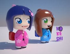 Kokeshi   BLender 3D