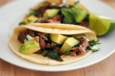 Carnitas Tacos Recipe - How To Make Carnitas Tacos w/ Cilantro Lime Sauce - Sweet y Salado