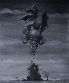 Beware the Cthulhu Hp Lovecraft, Lovecraft Cthulhu, Dark Fantasy, Fantasy Art, Necronomicon Lovecraft, Lovecraftian Horror, Dark Images, Call Of Cthulhu, Desenho Tattoo