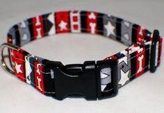 Personalized Fabric Dog Collar Your Pets name by MBEmbroidery, $18.50