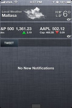 Writing Notification Center Widgets for iOS.