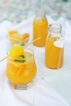 Narancsos limonádé - Kifőztük, online gasztromagazin Cocktail Drinks, Cocktails, Orange Juice, Healthy Drinks, Smoothie, Beverages, Food And Drink, Ice Cream, Cooking Recipes