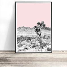 Desert Print | Joshua Tree Wall Art | Bohemian Art | Boho Home Decor Australia | Bohemian Art | Wall Decor | Desert Landscape Print. Art Print by Little Ink Empire