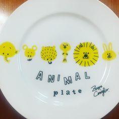 アニマルプレート ・ 完成〜〜(´∪`*)♡ #illustration#art#drawing#animal#plate#イラスト#handmade#雑貨#アート#絵#動物#皿#ハンドメイド#手描き#楽焼きマーカー#アニ皿#マル皿#spec一気に観ちゃった#寝まーす#おやすみ#おはよう?