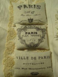 French LAVENDER SACHET Gift BUNDLE  Vintage Paris by TheJoyfulHome, $10.00