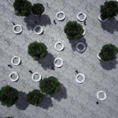 urban square by Radu Şerban, via Behance