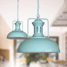 The Regent Vintage duck egg blue / blue green / turquoise Kitchen Pendant Light commands attention in any room. With classic period styling and eye catching detail, this pendant gives an immediate wow factor, particularly when lined up in sets of over Vintage Pendant Lighting, Vintage Wall Lights, Kitchen Pendant Lighting, Kitchen Pendants, Industrial Pendant Lights, Kitchen Island Lighting, Duck Egg Blue Kitchen, Blue Pendant Light, Turquoise Kitchen