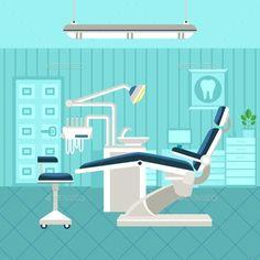 хороший пример. отрисовка + цвет Dental Room Poster