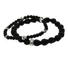 THOMAS SABO ~ Black And Silver Skull Duggery Bracelet Set