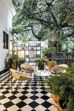 Todos Santos Lounge Chair by Mexa at Juana Bautista - hotel boutique Outdoor Rooms, Outdoor Living, Outdoor Decor, Cafe Design, House Design, Design Design, Balcony Design, Restaurant Interior Design, Backyard Patio