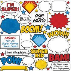 Creative Imaginations - Super Hero Collection - Die Cut Pieces - Super Hero at Scrapbook.com $3.99