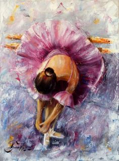 This gorgeous oil painting of a ballerina would look absolutely wonderful in my daughter's bedroom!