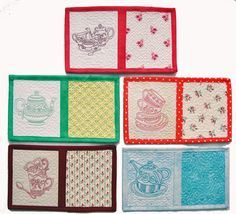 "Tea Time Mug Mats for the 5"" x 7"" Hoops Embroidery Article"