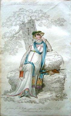 Belle Assemblee 1809. Regency fashion plate.