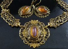 Vintage Art Decco Style Dragon's Breath Opal by SGGJewelryBoutique, $66.00
