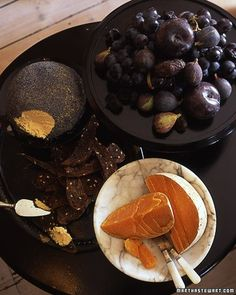 Sinister Spread - Set out scrumptious snacks in ebony and orange shades.