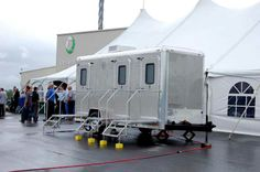 Elite Restroom Rentals & Concierge Service has a variety of luxury toilet trailers for small to large wedding events.