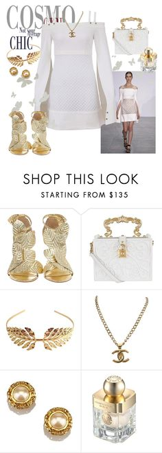 Chic Winter White by style-xxiv on Polyvore featuring KOTUR, Dolce&Gabbana, Chanel, Tuleste and Shanghai Tang