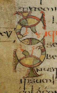 Medieval Letters: Another letter S from St. Gall, 7th or 8th century.