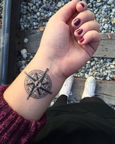 A compass is a symbol of staying in course in life. But it is also a beacon of hope for sailors in an unforgiving sea. In the center of the compass is the semicolon tattoo.