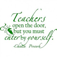 Wall Quotes About Teachers for Home, Office or Classroom Decor